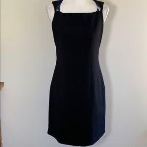 T Tahari black sleeveless dress